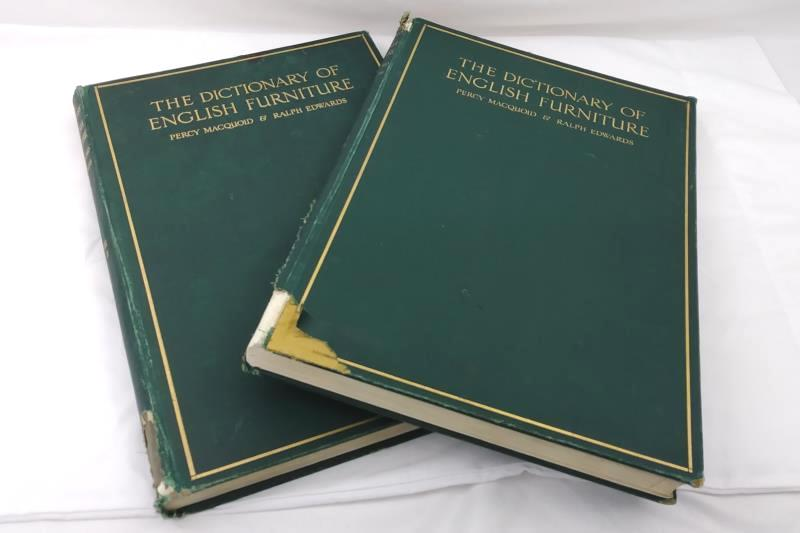 Antique The Dictionary of English Furniture by Macquoid & Edwards, 2 of 3 Vol.