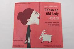 """Vintage 7"""" Vinyl Record """"I Know an Old Lady"""" Alan Mills Scholastic Records #1624"""