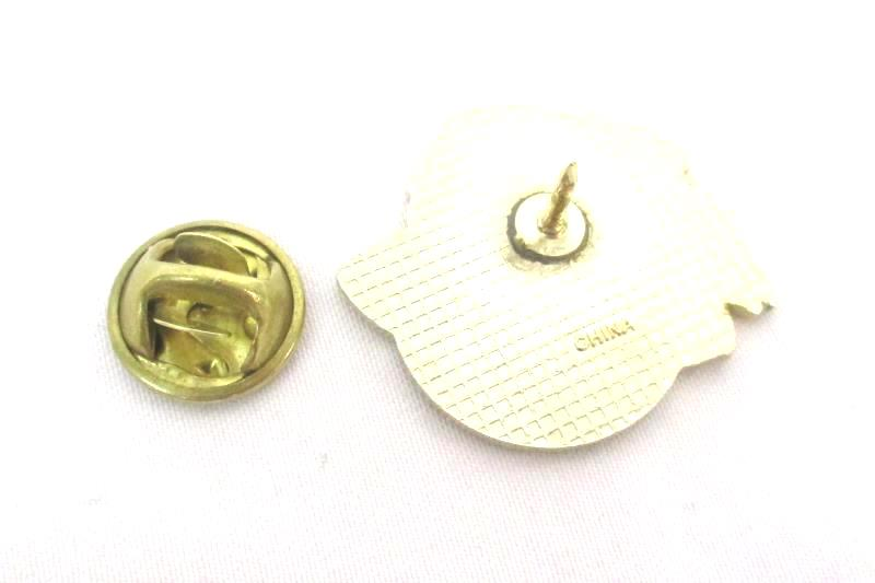 Vtg Red Hat Society Women's Metal Gold Tone Pin Jewelry Lapel Brooch