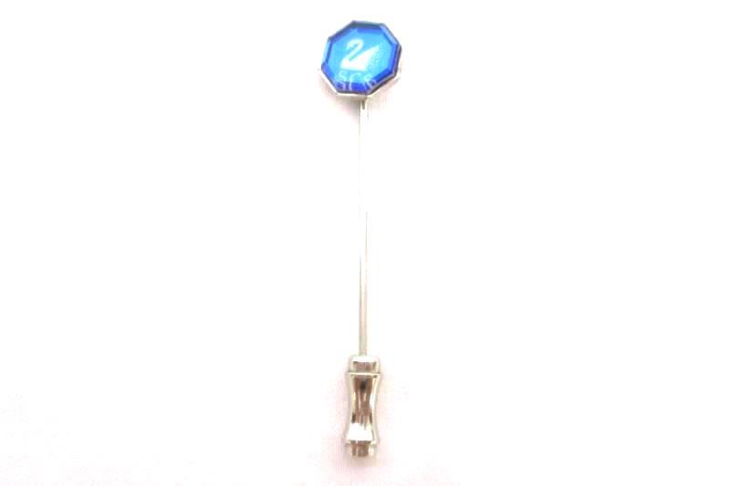 Vintage Swarovski Crystal 1988 Membership Stick Pin Blue Crystal Octagon Swan