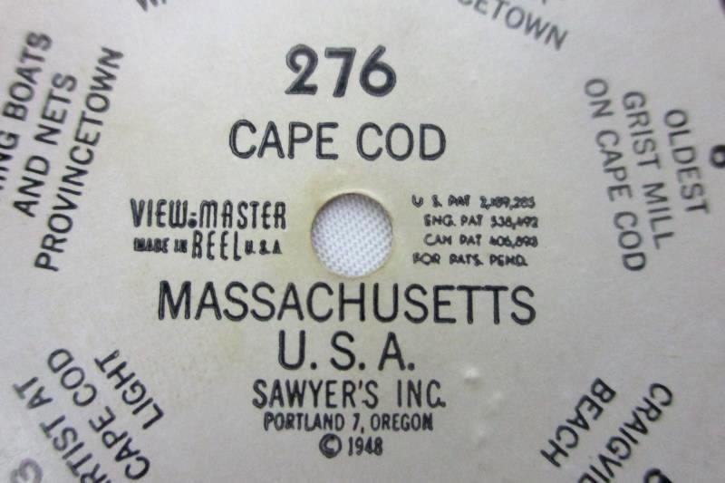 1948 Sawyer's View-Master Reel - Cape Cod #276 Massachusetts