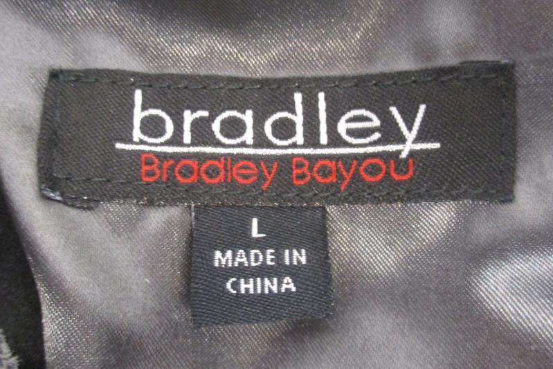 Bradley Bayou Women's Leather Moto Jacket Gray Metallic Asymmetric Full Zip Sz L