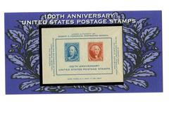 USPS Mini Sheet 100th Anniversary USA Stamps UNUSED MNH On Display Board