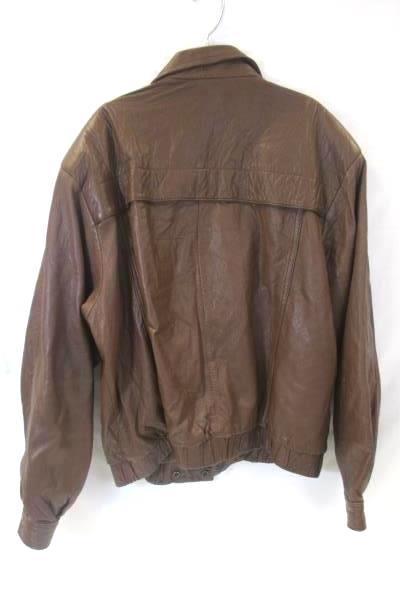 Genuine Leather Women's Leather Jacket Brown Full Zip Moto Style Size Medium