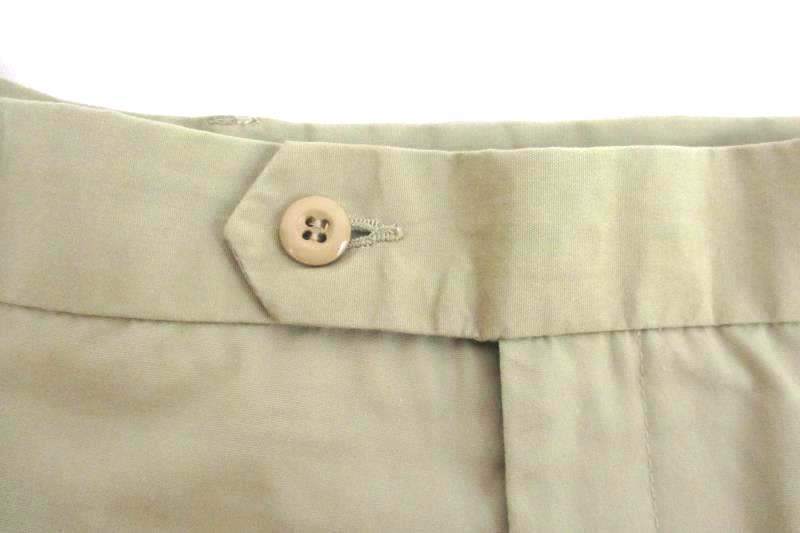 Palmland Club Men's Flat Front Khaki Golf Shorts Elastic Polyester Blend Size 40