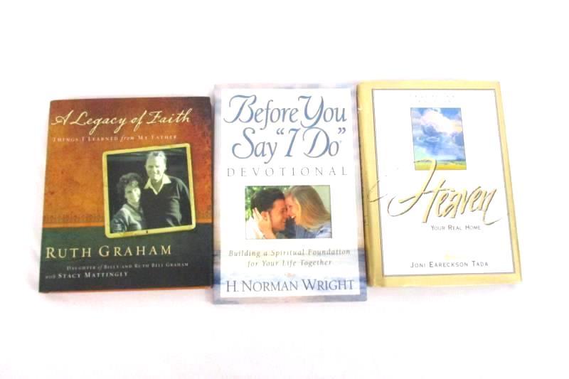 Lot of 3 Women's Devotional Books Ruth Graham Joni Eareckson Tada Norman Wright