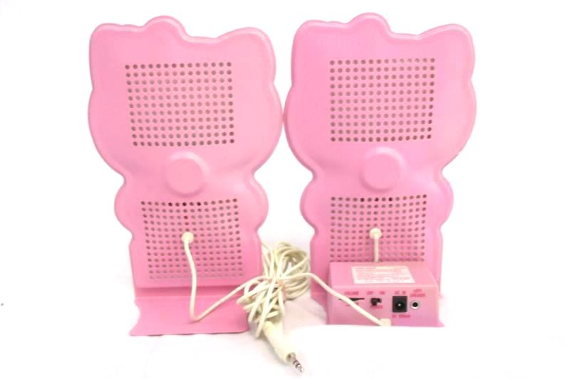Nxt Hello Kitty Multimedia Flat Panel Speaker Set KT4020 With Plug In Adapter