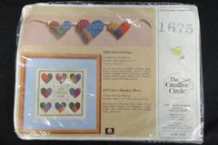 Counted Cross Stitch Kit Love Spoken Here Patchwork Hearts Creative Circle 1675