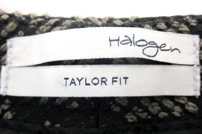 Halogen Women's Taylor Fit Black Flat Front Dress Pants Work Slacks Petite Sz 6P