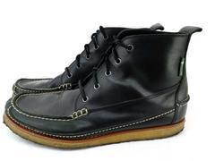 EASTLAND Stonington 1955 Edition Black Leather Ankle Boots Moc Toe Men's 13M