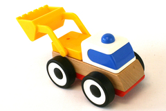 Ikea Lillabo Plastic And Wood Toddler Bulldozer Toy