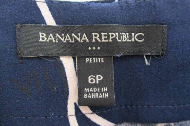 Banana Republic Women's Petite Dress Gaucho Pants Wide Leg Navy Floral Size 6P