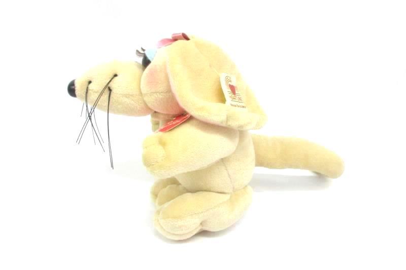 1987 Heartline Rat Pack Alli Rat Plush Toy 6 3/4 Inch Beige