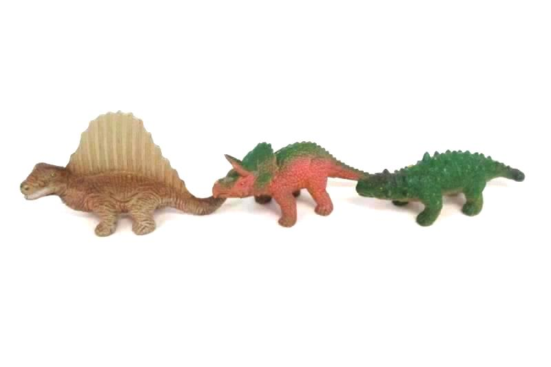 Lot of 7 Vintage UKRD Dinosaur Toy Figures T Rex Triceratops Dimetrodon 1992-93