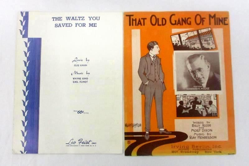 Four Pieces Of Vintage Piano Sheet Music That Old Gang Of Mine