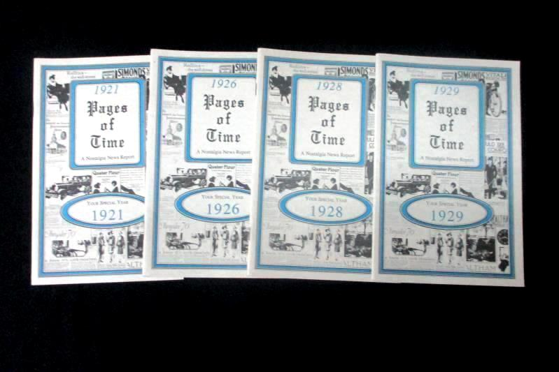 Lot of 4 Booklets Pages Of Time A Nostalgic News Report The 1920s KardLets