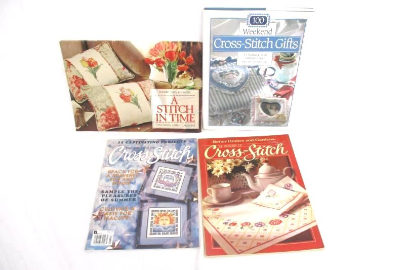 Lot of 4 Cross Stitch Pattern Books Better Homes Pleasure Of 100 Weekend Gifts