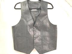 Genuine Leather Men's Motorcycle Vest Size Large