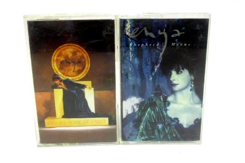 Lot of 2 Enya Cassette Tapes The Memory of Trees Shepherd Moon Reprise Records