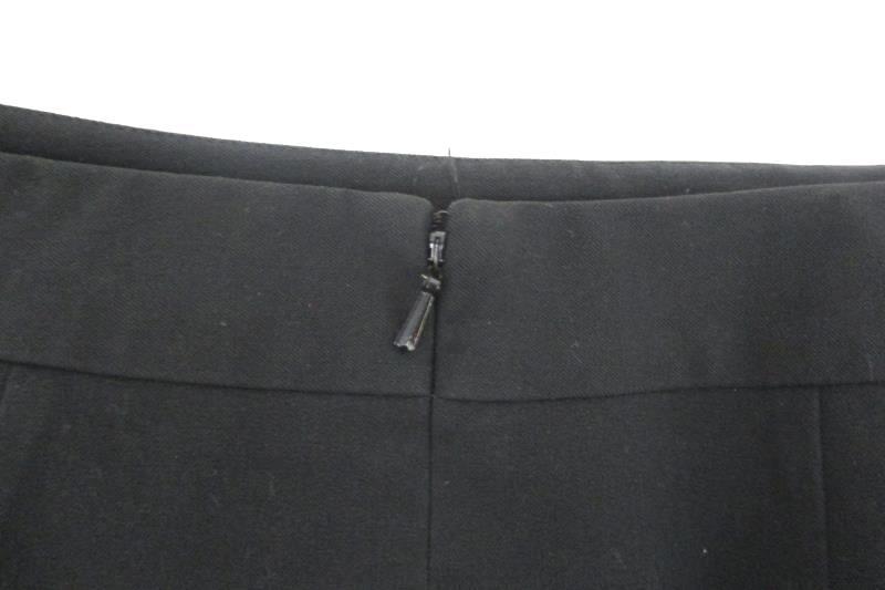Caslon Women's Solid Black Pencil Career Skirt Polyester Blend Back Zipper Sz 4