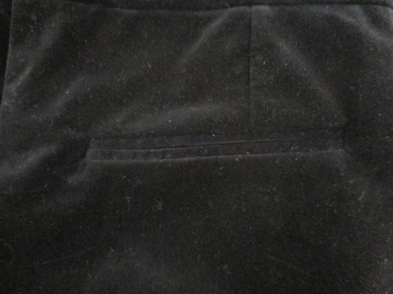MNG By Mango Women's Black Velvet Dress Pants Flat Front Ribbon Belt Size 6