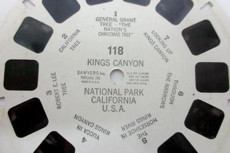 Vintage View Master Kings Canyon National Park California Reel 118