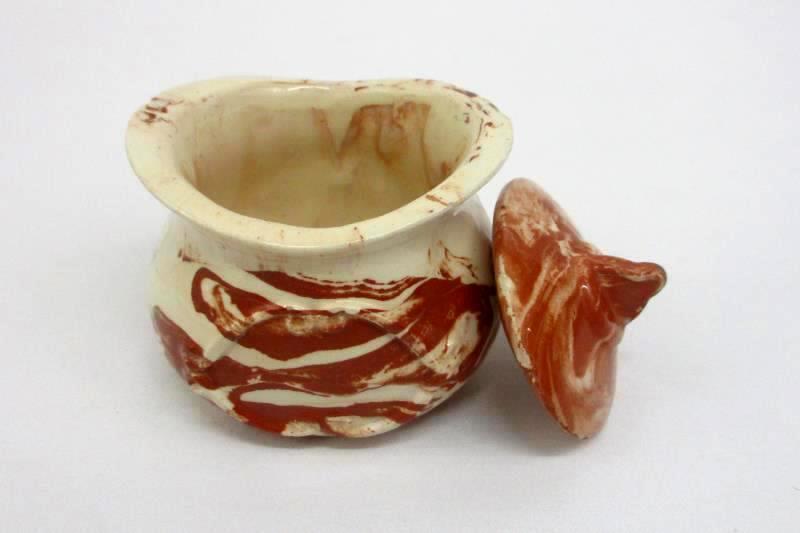 Demitasse Creamer And Lidded Sugar Bowl Brown Beige
