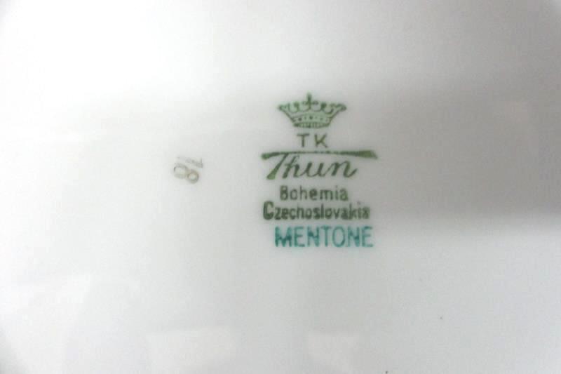 Vintage TK Thun Mentone Soup Bowl 8 Inch Bohemia Czechoslovakia