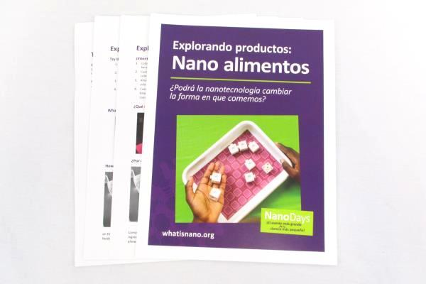 NanoDays Exploring Products Science Kit Kids Ages 8+ 2015 Experiments Nano Food