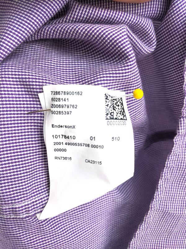 Hugo Boss Dress Shirt Modern Fit Purple Micro Check Enderson X Men's Size 16.5