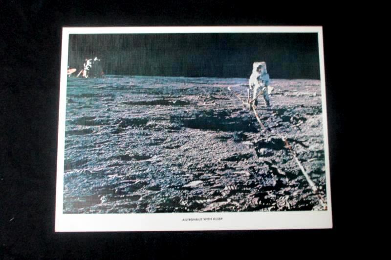 NASA Apollo 12 Historical Print Astronaut ALSEP On the Moons Surface 8 1/2 x 11
