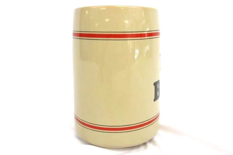 Vintage Russ 15 oz Ceramic I Heart Beer Mug Cup Breweriana