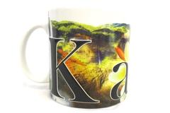 Americaware 2007 Kauai Oversized Ceramic Coffee Tea Mug Cup Textured Hawaii