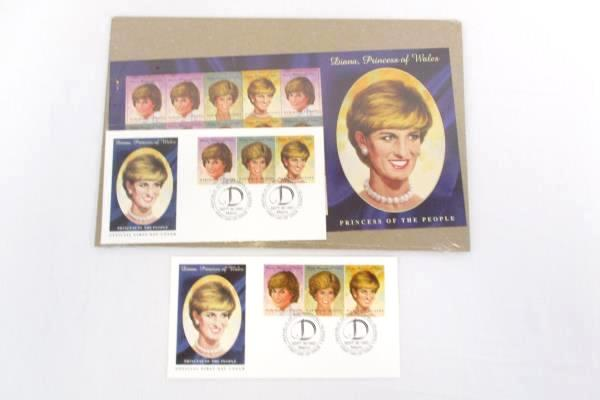 1997 Marshall Islands Diana Princess of Wales 3 FDC/ 2 FDI Stamp Set Sealed PKG