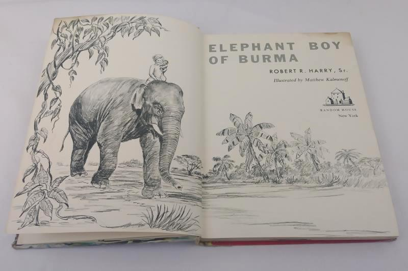 Elephant Boy of Burma by Robert R. Harry 1960 Hardcover Vintage Children's Book