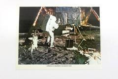 Apollo 12 Historical Print Astronaut At Quadrant II Descent Stage 8 1/2 x 11in
