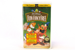 Walt Disney's Masterpiece Fun And Fancy Free VHS Movie 50th Ann. LE Clam Shell