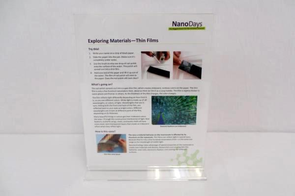 NanoDays Exploring Materials Science Kit Kids Ages 8+ Experiments Thin Films