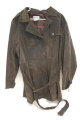 Bradley Bayou Women's Genuine Leather Jacket Brown Full Zip Belted Size 2X