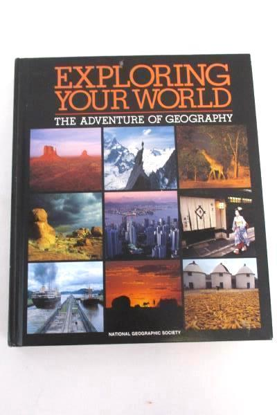 Lot of 2 Books Exploring Your World Geography Hammond World Atlas Discovery