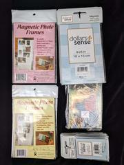 44pc Lot of Clear Plastic Magnetic Picture Frames Assorted Sizes 4x6 and Smaller
