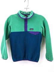 PATAGONIA Snap-T Pullover Lightweight Synchilla Fleece Jacket Girls Sz S (7-8)