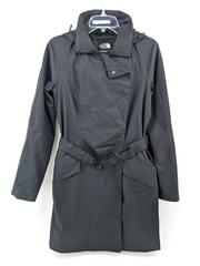 THE NORTH FACE Kadin Trench Coat Hood Waterproof Jacket Black DryVent Womens S