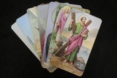 Holy Prayer Cards Bonella Milano 400 Series Made In Italy Lot of Seven