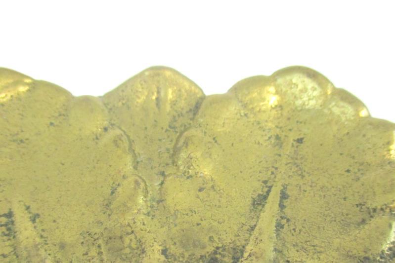 Vtg Brass Candle Holder Dish Floral Petal Pattern 5 Inch Round