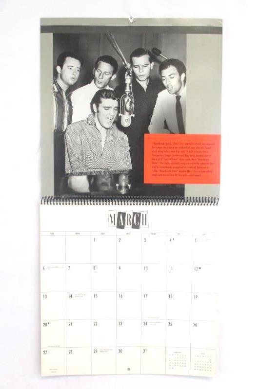 Elvis Presley The Fifties Hallmark 1994 Wall Calendar Private Collection Photos