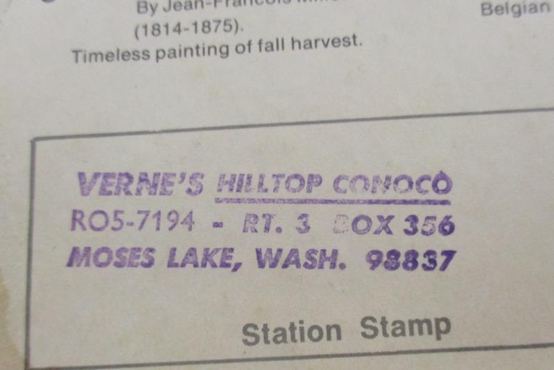 Vintage The Gleaner Fine Art Print Conoco Gasoline Customer Appreciation Premium
