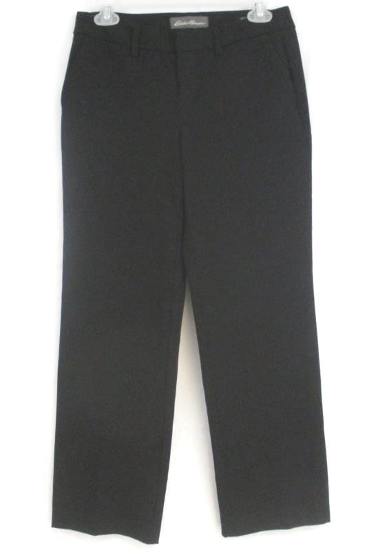 Eddie Bauer Women's Petite Slightly Curvy Fit Black Dress Pants Size 2P