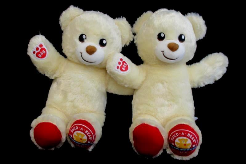 Lot of 2 Build A Bear National Teddy Bear Day 2019 Plush Stuffed Animal 15 Inch