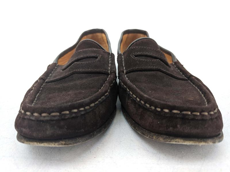 Ralph Lauren Loafers Classic Suede Penny Loafers Brown ...